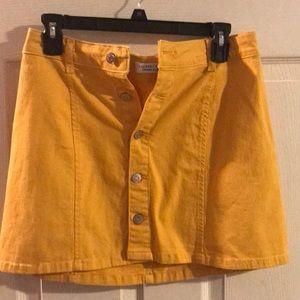 Yellow Button-Up Skirt